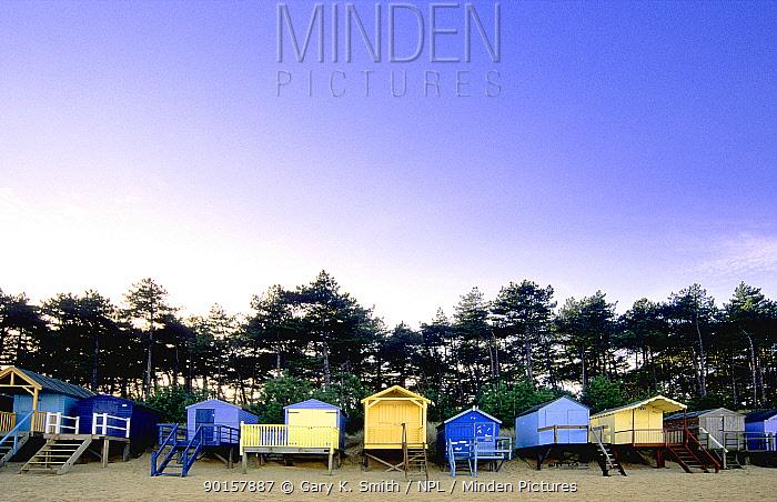 Beach huts at Wells next the sea, North Norfolk, UK  -  Gary K. Smith/ npl