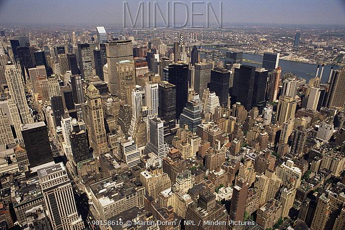 Aerial view of Manhattan, New York City, USA  -  Martin Dohrn/ npl