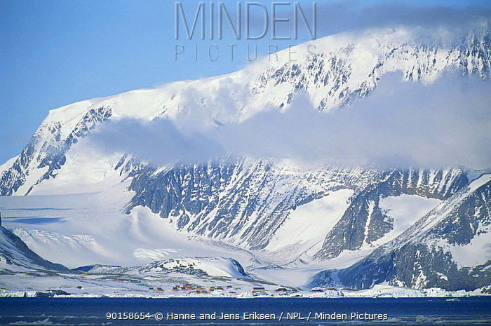 Esperanza research station Antarctic sound, Antarctica December  -  Hanne & Jens Eriksen/ npl
