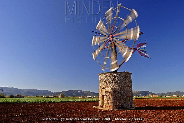 Windmill Majorca, Balearic Is, Spain  -  Juan Manuel Borrero/ npl