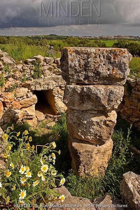 Talaiot de Son Forns Prehistoric settlement Majorca, Balearic Is, Spain  -  Juan Manuel Borrero/ npl