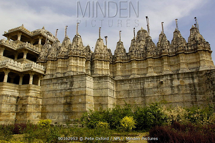 Jain Temple 15th century Adinatha Temple at Ranakpur, Rajasthan, India, 2006  -  Pete Oxford/ npl