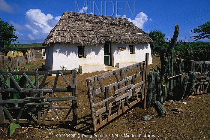 Slave Hut Museum, Curacao, Netherlands Antilles, Caribbean  -  Doug Perrine/ npl