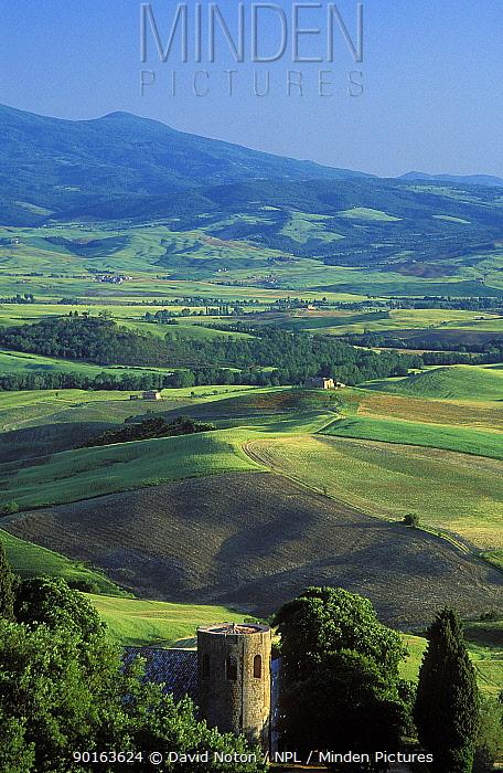 Countryside nr Pienza, Tuscany, Italy  -  David Noton/ npl