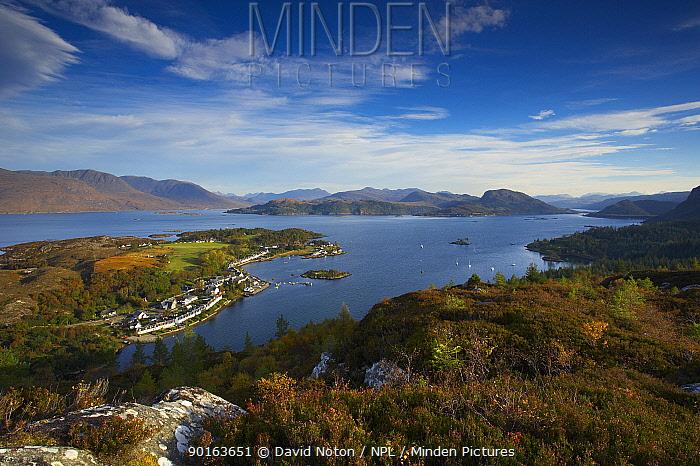 Plockton, Loch Kishorn and Loch Carron, Wester Ross, Scotland, UK  -  David Noton/ npl