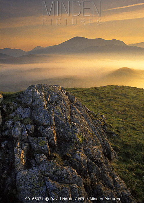 Eskdale at dawn, nr Boot, Cumbria, England, UK  -  David Noton/ npl