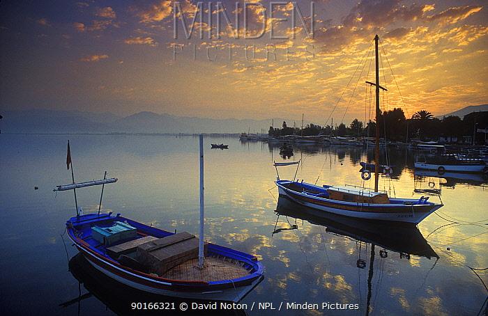 Dawn, Fethiye Harbour, Turkey  -  David Noton/ npl