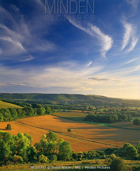 The Blackmore Vale from Hambledon Hill, Dorset, England, UK  -  David Noton/ npl