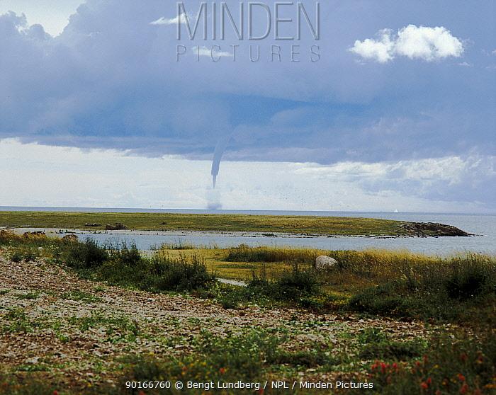 Tornado over the Baltic Sea Gotland Island, Sweden July  -  Bengt Lundberg/ npl