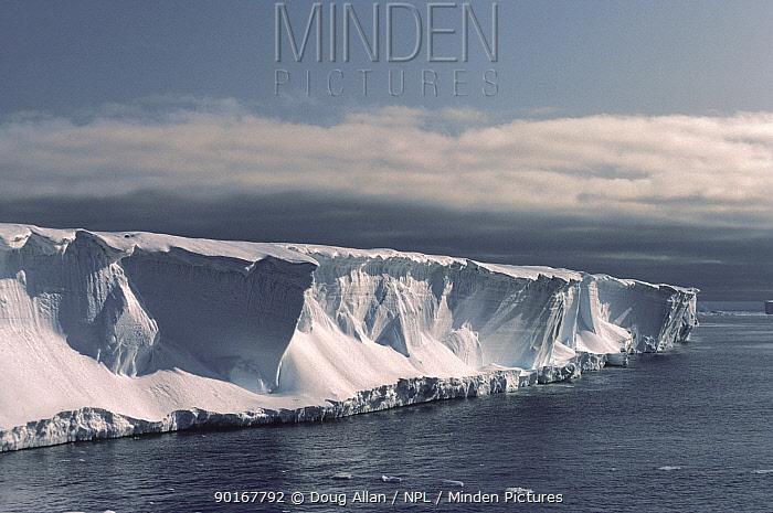 Brunt Ice Shelf cliffs, 30m high, Antarctica  -  Doug Allan/ npl