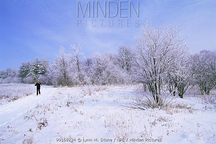 Cross country skiing, St Charles, Illinois, USA  -  Lynn M. Stone/ npl