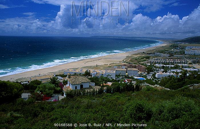 Zahara de los Atunes village and beach Cadiz Andulacia Spain  -  Jose B. Ruiz/ npl