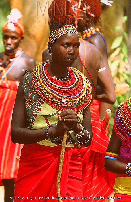 Samburu dancer Samburu NR Kenya  -  Constantinos Petrinos/ npl