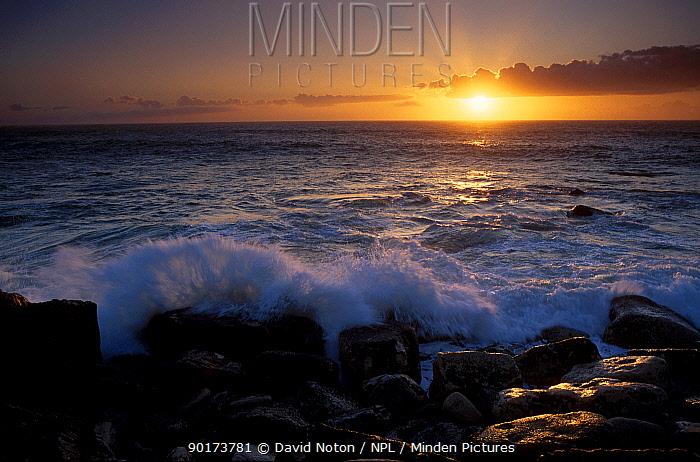 Sunset at Portland Dorset UK  -  David Noton/ npl