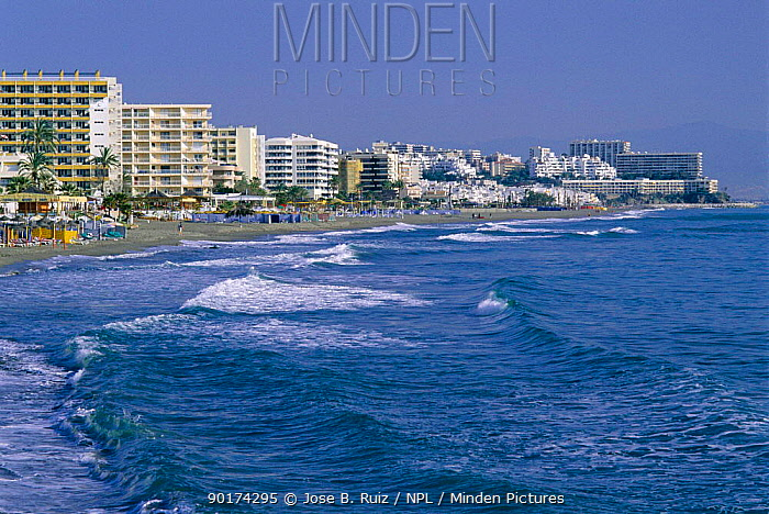 Town and beach, Fuengirola, Malaga, Spain  -  Jose B. Ruiz/ npl