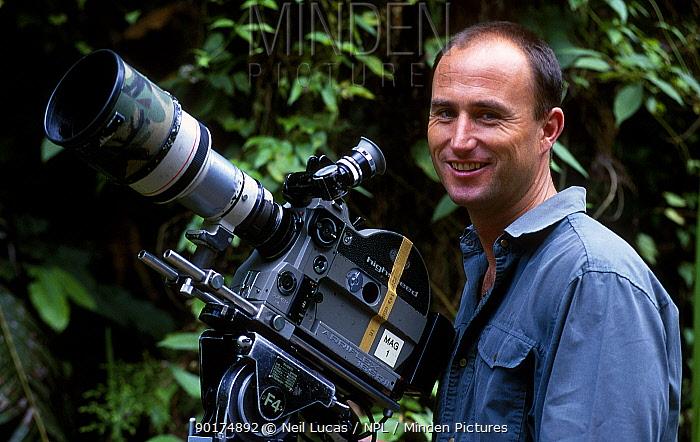 Martyn Colbeck filming in Borneo 1997  -  Neil Lucas/ npl