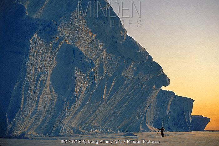 Ice cliffs of the Brunt Ice Shelf Weddell Sea Antarctica  -  Doug Allan/ npl