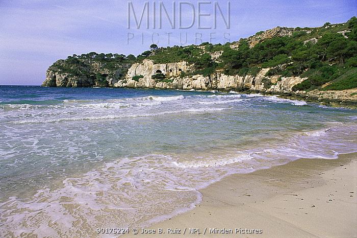 Maccarella private beach, Menorca, Balearic Is, Mediterranean  -  Jose B. Ruiz/ npl