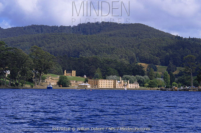 Ruined Penitentiary converted from flour mill in 1854 for convicts, Port Arthur, Tasmania  -  William Osborn/ npl