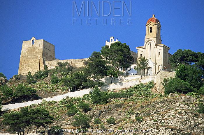 Castle and Sanctuary at Cullera, Valencia, Spain  -  Jose B. Ruiz/ npl