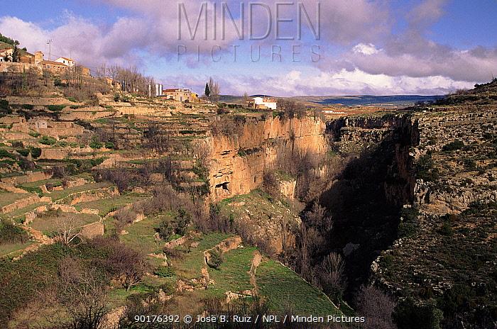 Mountain village, Alpuente, Valencia, Spain, Europe  -  Jose B. Ruiz/ npl