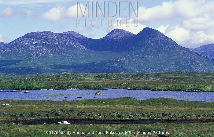 Peat bog extraction Connemara, Co Galway, Republic of Ireland  -  Hanne & Jens Eriksen/ npl