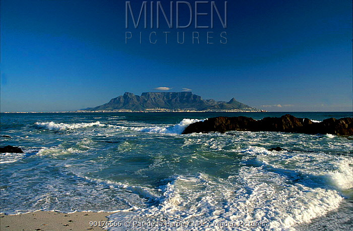 Table Mountain seen from Bloubergstrand at dawn Summer Cape Town South Africa  -  Pat De La Harpe/ npl