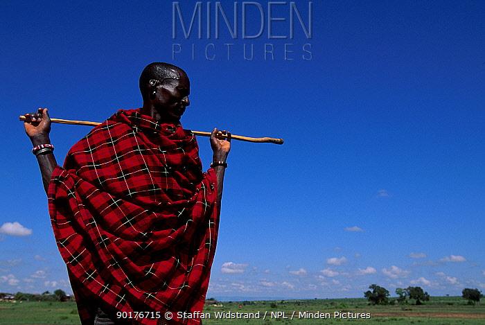 James Lepore Masai tribesman Masai Mara GR Kenya  -  Staffan Widstrand/ npl
