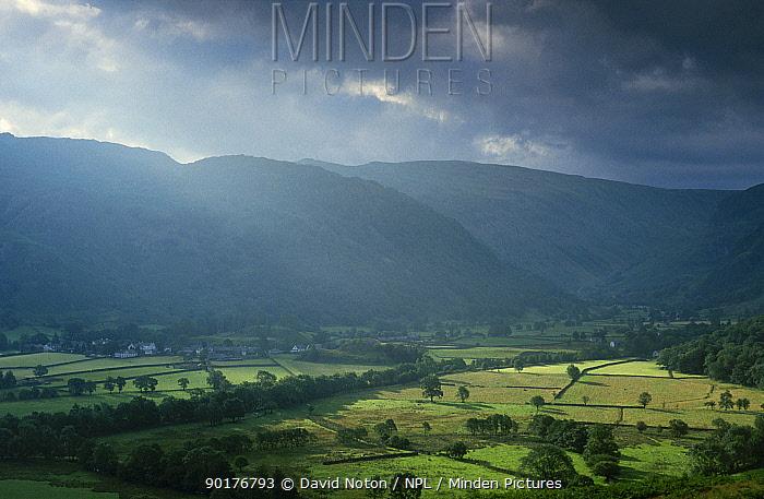 Rain clouds over Borrowdale Lake District NP Cumbria UK  -  David Noton/ npl