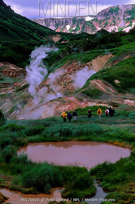 Thermal vents Valley of the Geysers Kamchatka Peninsula Eastern Russia  -  Pete Oxford/ npl