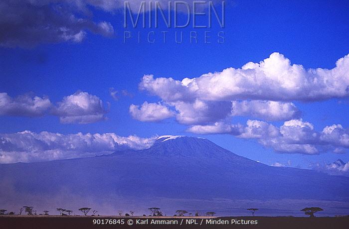 Mount Kilimanjaro from Amboseli GR Kenya  -  Karl Ammann/ npl