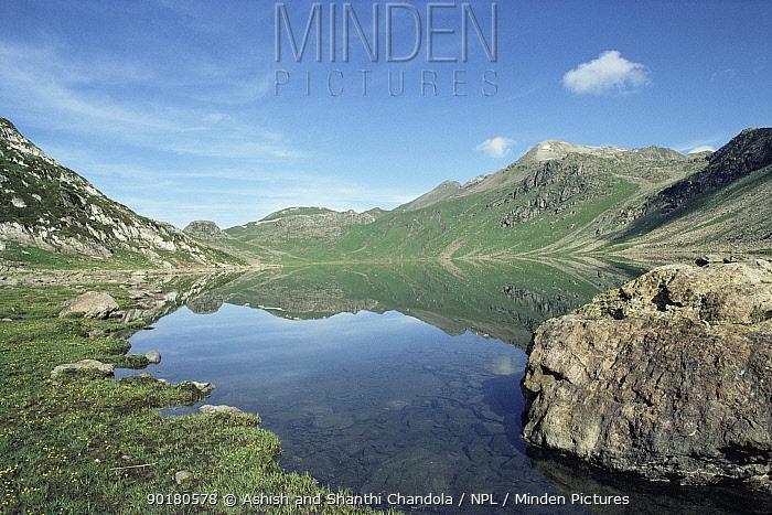Marsar Lake landscape, Dachigam NP, Jammu andamp; Kashmir, North West India  -  Ashish & Shanthi Chandola/ npl
