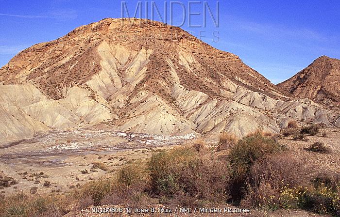 Barren landscape of Desierto de tabernas, Almeria, Spain  -  Jose B. Ruiz/ npl