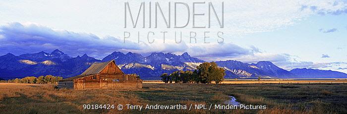 Clarkes moulton barn, Grand Teton NP, Wyoming, USA  -  Terry Andrewartha/ npl