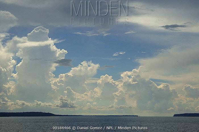 Rain clouds over the Rio Negro, Brazil  -  Daniel Gomez/ npl
