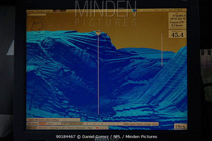 First ever 3D map of the Amazonas river showing one of the deepest spots discovered  -  Daniel Gomez/ npl