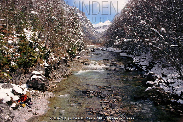 Ordesa river in the Pyrenees, Huesca, Spain, Europe  -  Jose B. Ruiz/ npl