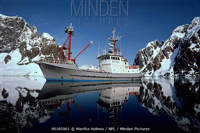 Research and filming boat 'Abel-J' in Lemiare Channel, Antarctica  -  Martha Holmes/ npl