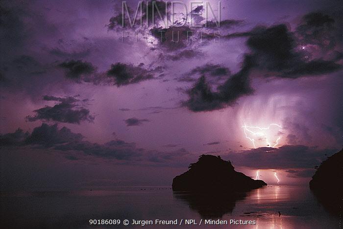 Lightning and thunderstorm over Sulu-sulawesi seas, Indo-Pacific ocean  -  Jurgen Freund/ npl