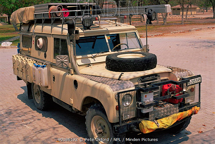 Private Land Rover kitted out for ecotourism, Namibia, Southern Africa  -  Pete Oxford/ npl