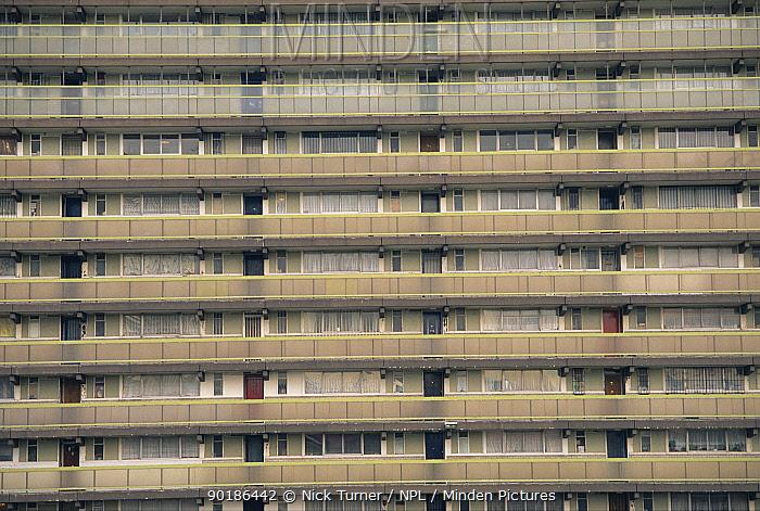 Derelict block of flats Hammersmith, London, UK  -  Nick Turner/ npl