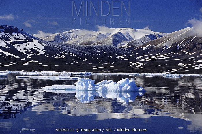 Daneborg Fjord in summer NE Greenland  -  Doug Allan/ npl