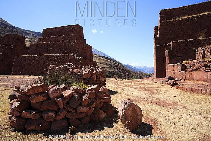 Ruins and stone walls in Archaeological Park of Rumi Colca, Peru 2006  -  Juan Manuel Borrero/ npl