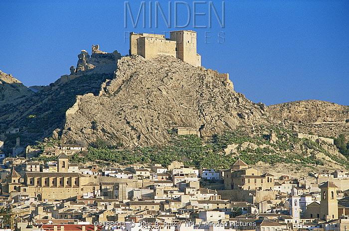Calahorra castle and old town, Aledo, Murcia, Spain  -  Jose B. Ruiz/ npl