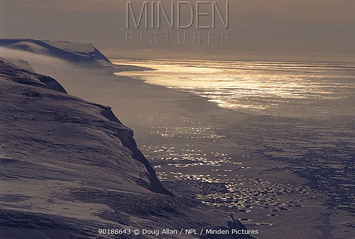 Spring sea ice, Holpen island, Svalbard, Norway, Scandinavia, Europe  -  Doug Allan/ npl