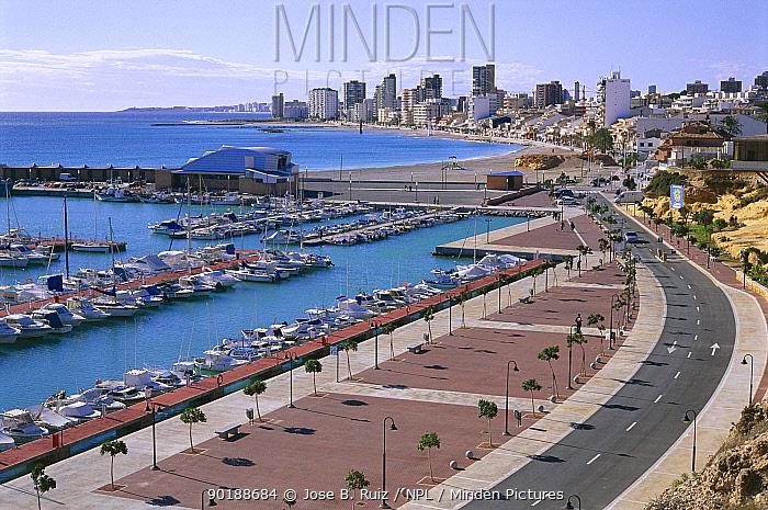 Alicante city and marina, Mediterranean Spain  -  Jose B. Ruiz/ npl