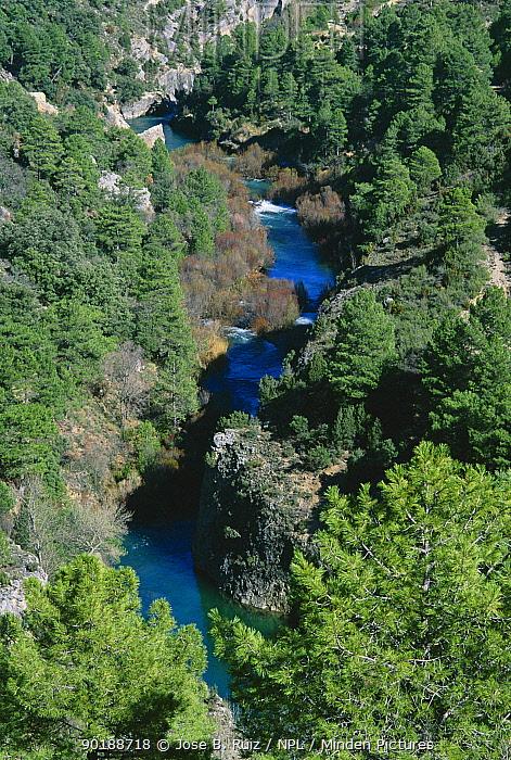 River gorge, Rio Jucar, Serrania de Cuenca, Spain  -  Jose B. Ruiz/ npl