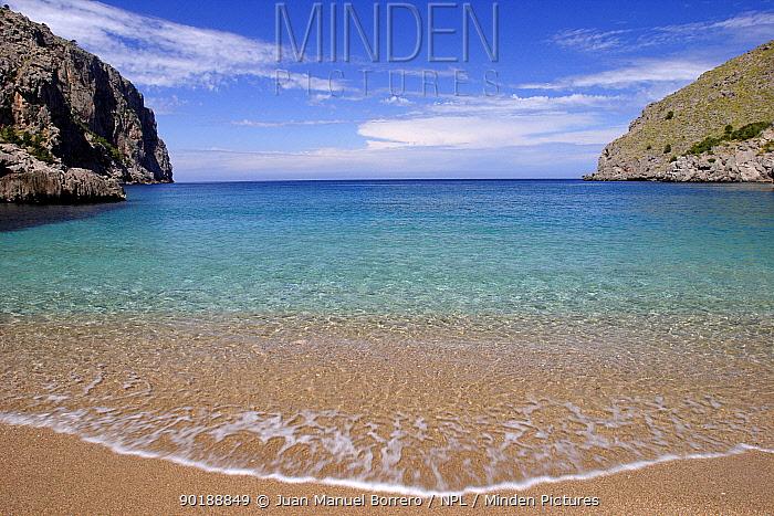 Cala de sa Calobra Majorca, Balearic Is, Spain  -  Juan Manuel Borrero/ npl