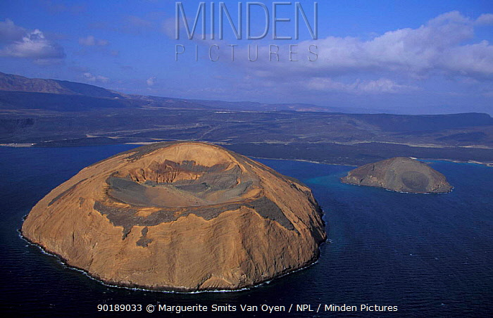 Aerial view of Ile du Diable and Bay of Ghoubbet, Djibouti, East Africa  -  Marguerite Smits Van Oyen/ npl