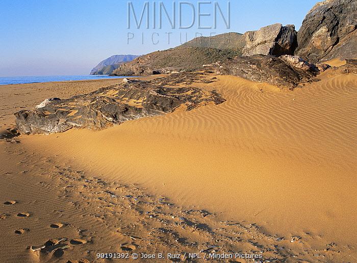 Coastal beach landscape at Calblanque, Murcia, Spain  -  Jose B. Ruiz/ npl
